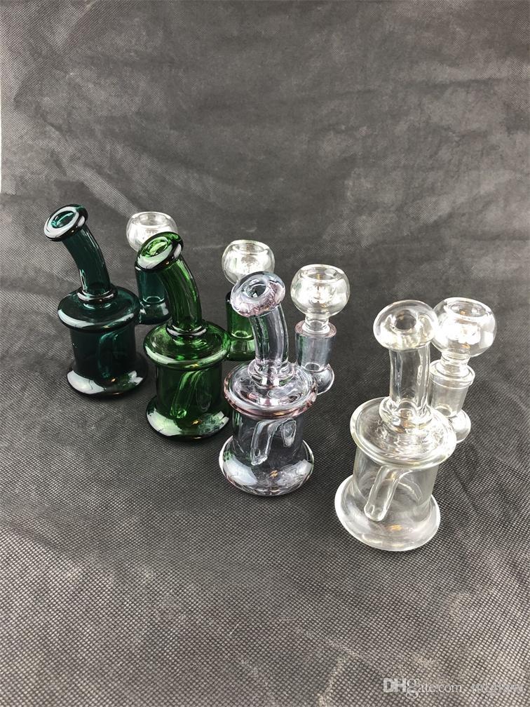 Мини стекло кальян многоцветный масло для курения для курения трубы 14 мм совместное завод Прямые ценовые уступки