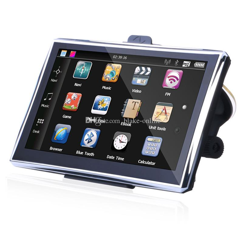 HD 7 inch Bluetooth Truck GPS Navigator Truck GPS Navigation AVIN FM WinCE 6.0 800MHZ RAM 256MB 8GB 3D Maps