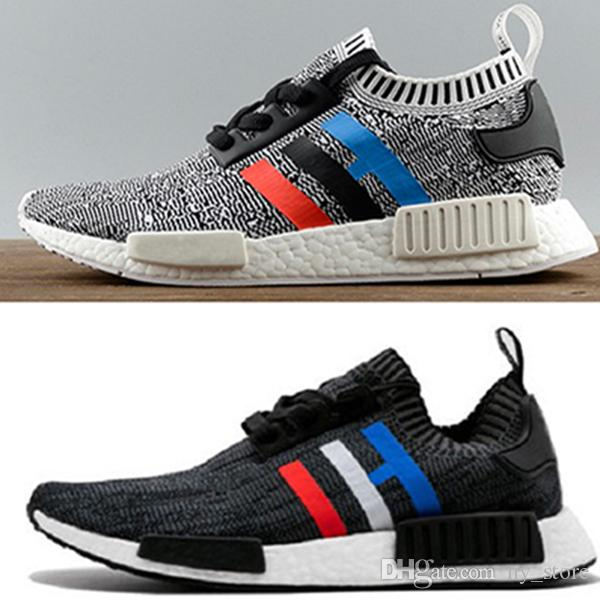 Adidas NMD R1 Primeknit Tricolor Black NOIRFONCE Sneakers