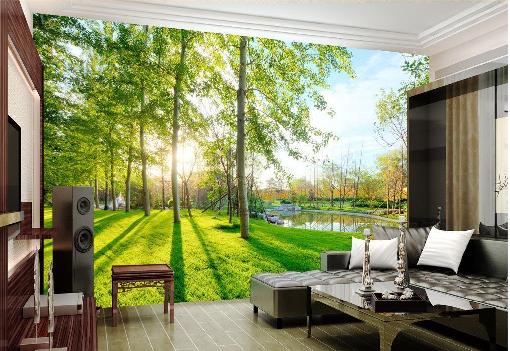 Paesaggi di lusso europei moderni 3D Scene Background Adesivi murali per  pareti 3 d per soggiorno