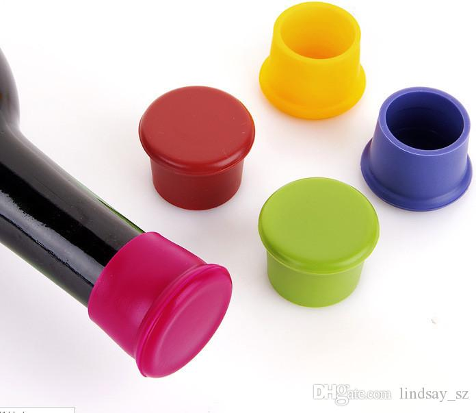Silicone Wine Bottle Stoppers Keep Vacuum Sealed Kitchen Bar Tools Spout Liquor Flow Stopper Pour Cap Bottle Cover