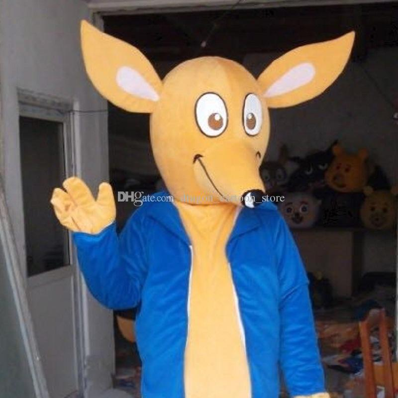 Kangaroo Mascot Costumes Cartoon Character Adult Sz 100% Real Picture