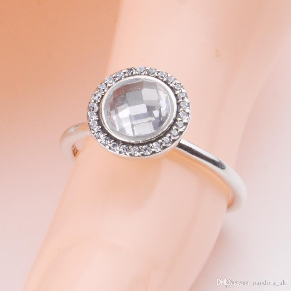 2018 100% Solid 925 Sterling Silver Ring For European Pandora Thread ...