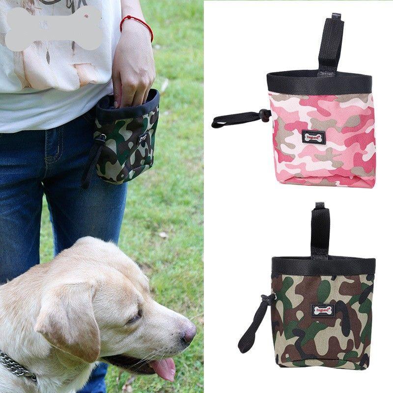 15dr multifunzione mimetica cane trattare sacchetto la formazione a piedi le tasche cani pet sacchetto di immondizia all'aperto sacchetti di snack resistenti all'usura
