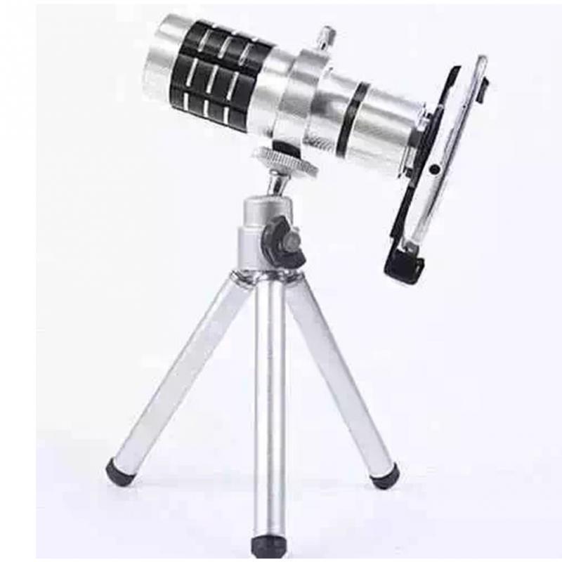 ee8755e16 Wholesale- 12X Zoom Mobile Telephoto Lens F2.0 20mm 90 Phone Monocular Telephoto  Lens Telescope + TrHolder For Universal Smart-phones