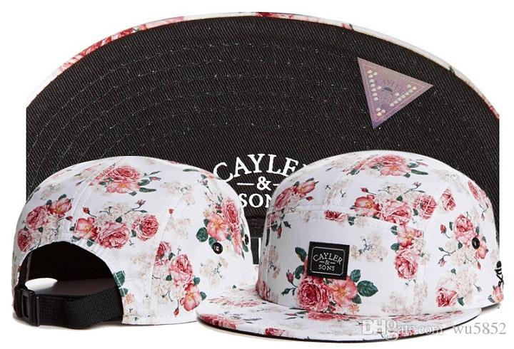 2017 New fashion flower Casquette Cayler Sons bone 5 panel hats for men Snapback baseball Cap women hip hop dad hat adjustable Caps