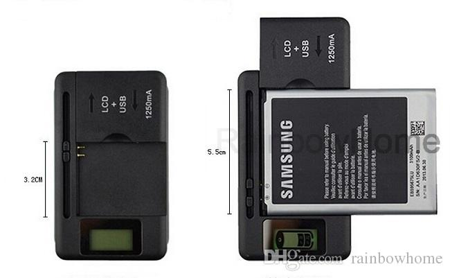 Evrensel Akıllı pil Şarj LCD Ekran Için samsung GALAXY S5 S4 S3 NOT 3 HTC Xiaomi Nokia usb çıkışı ABD AB İNGILTERE Tak