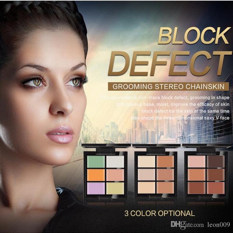 HUAMIANLI Contour Palette Concealer Face Primer Cream Make Up Facial Contouring Palette Makeup Corrector Base Palette
