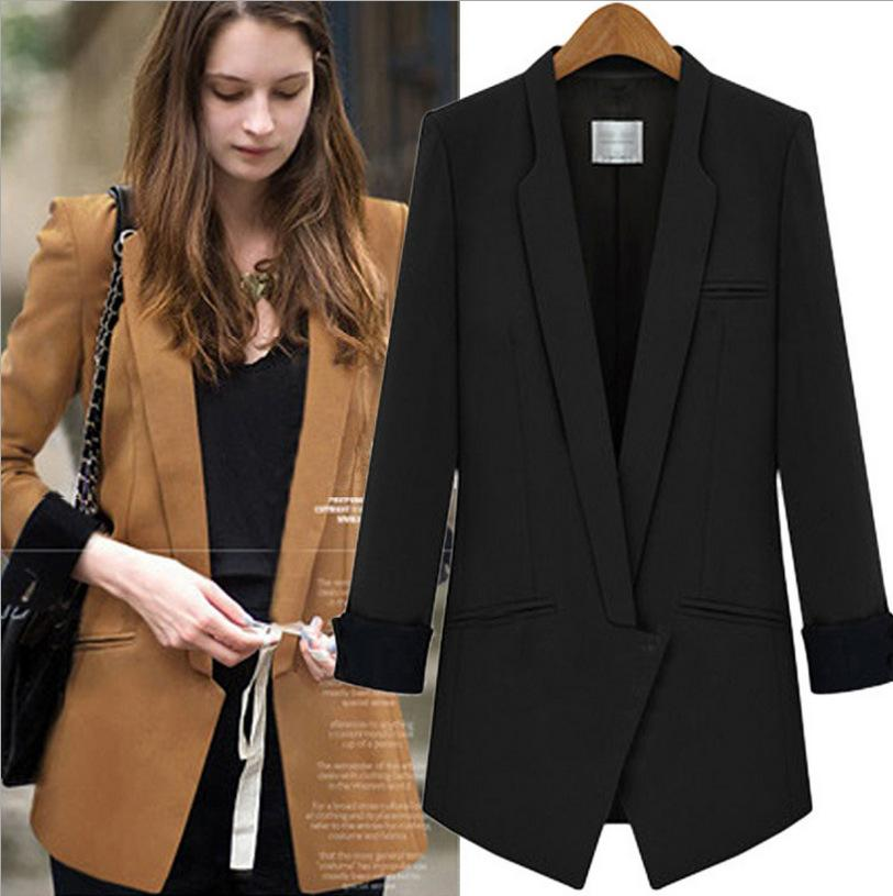 2017 2017 Spring Women Black Blazers Womens Thin Short Sleeve ...