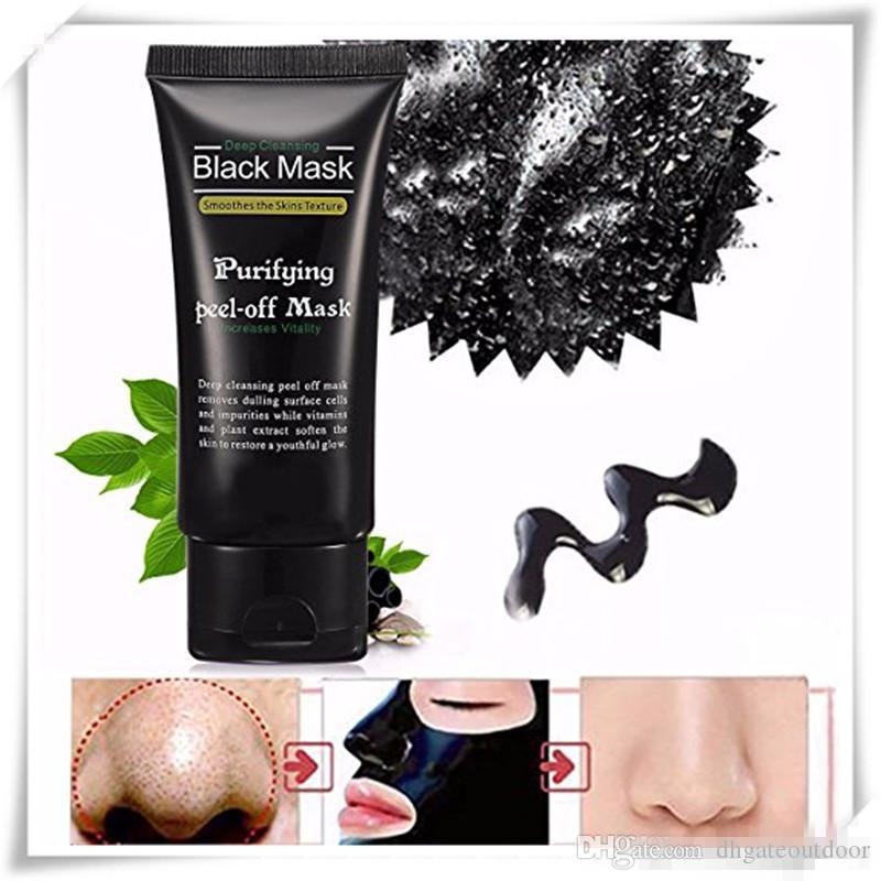 2017 Facial Blackhead Masks Cleaner Deep Cleansing Acne Black Mud Face Mask Acne Face Mask 50ML Blackhead Facial Face Care Free DHL Makeup