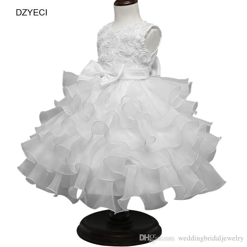 8a4087b33f0 Acheter Floral Bow Robes Pour Bébé Fille Costume Carnaval Demoiselle  D honneur Enfants Rose Dentelle De Bal Princesse Robe Vêtements Enfant  Cérémonie De ...