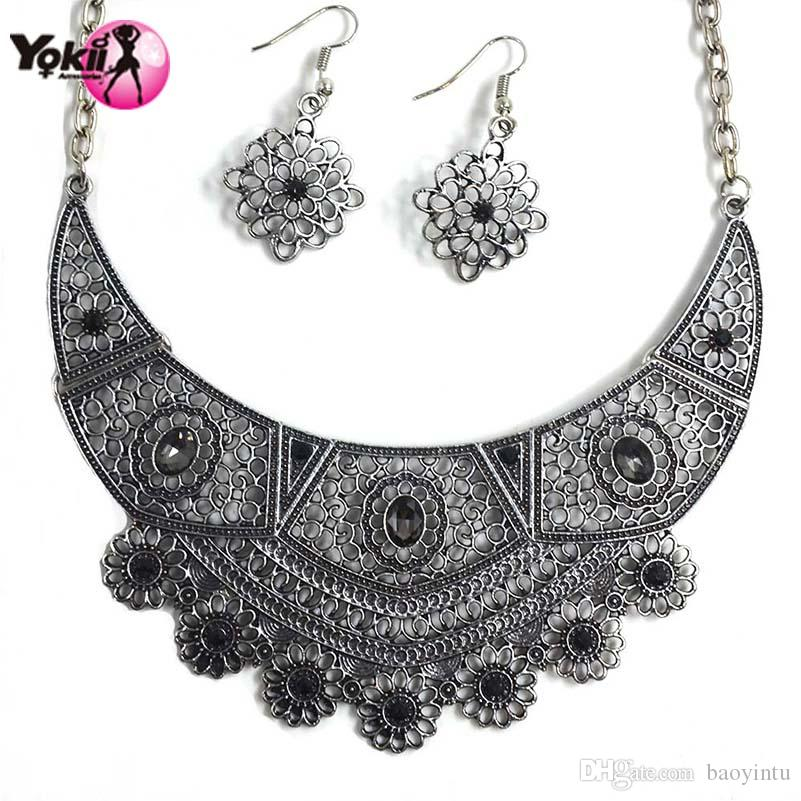 2018 Yokii New Arrival Ethnic Style Necklace Earrings Set Unique ...