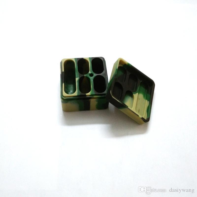 Il silicone portatile del contenitore del silicone stona il concentrato di cera dell'olio delle guarnizioni del contenitore delle fette d'olio del quadrato