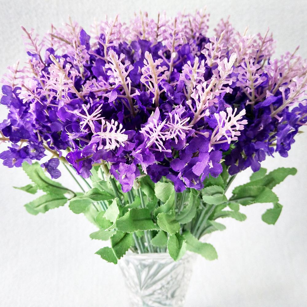 Best quality artificial lavender silk flowers bouquet decorative best quality artificial lavender silk flowers bouquet decorative artificial flowers for wedding party home decoration no vase at cheap price izmirmasajfo