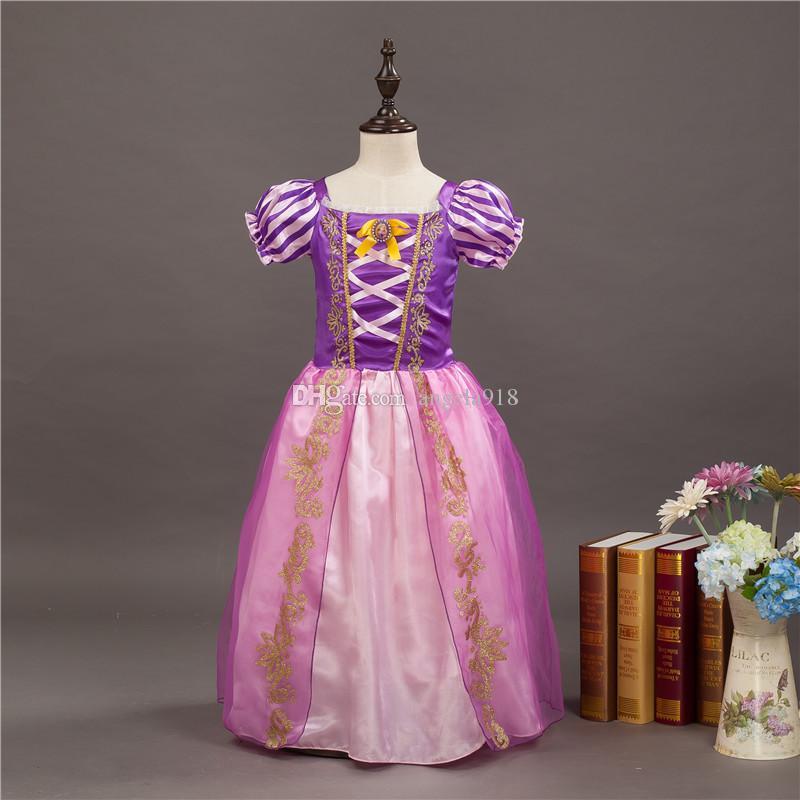 Baby Mädchen Prinzessin TuTu Spitzenkleid Kinder Schnee weiße Prinzessin Kleider Cartoon Kinder Cinderella Kleid für Party C2035