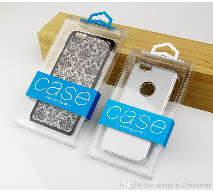 Colorful Customize Company LOGO PVC Packaging Box for iphone 7 7plus Cell Phone Case Cover with Hard Inner Tray