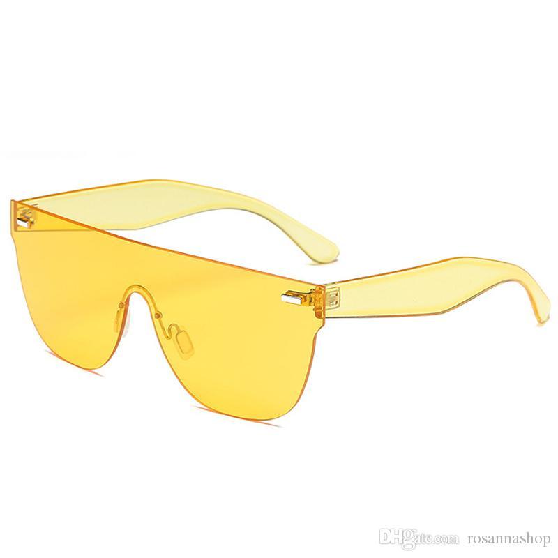Diseñador Planos Color Caramelo Mujer Sin Marco Con Lentes Moda Sol Para Gafas De Hombres hQCxrdtsB