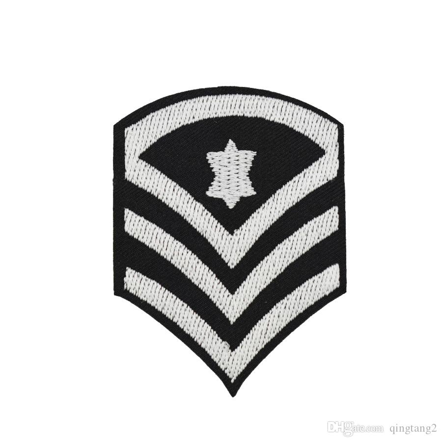 silver stars badge embroidery patches for clothing iron patch for clothes applique sewing accessories stickers on cloth iron on patch