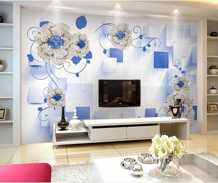 Großhandel Luxus Europäischer Moderner Diamant Blüht 3d
