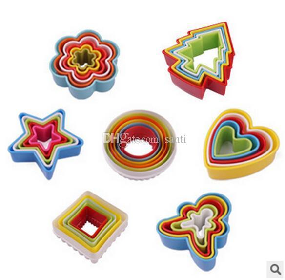 Nuovi set di taglierini biscotti cornice affettatrice torta stampo fai da te decorazione a forma di cuore taglierina bordo accessori biscotti in plastica biscotti