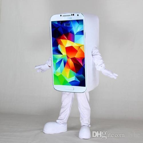 white phone mascot costume fancy party dress halloween costumes adult size with high quality unique halloween costumes family halloween costumes from lvhe