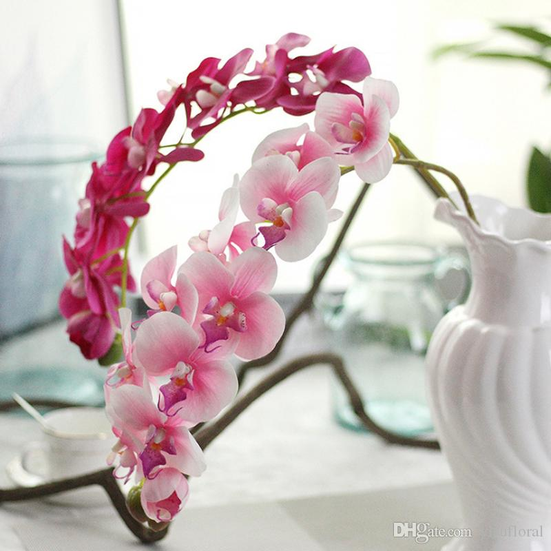 2019 Orchid Artificial Flowers Orchidee Artificielle Latex Flowers