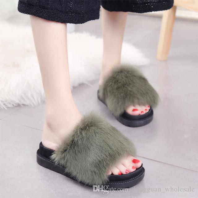 Sexy furry slippers
