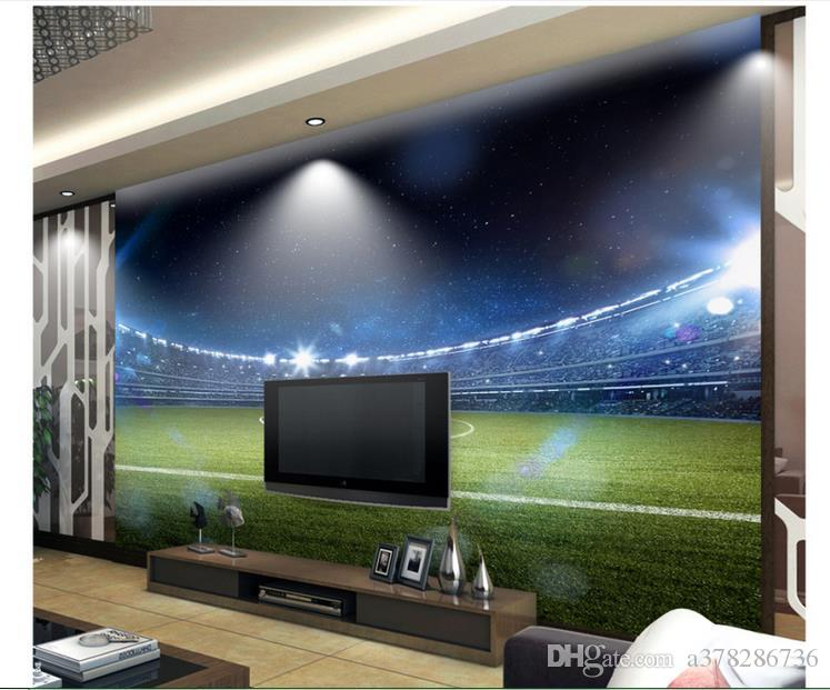High Quality Custom 3d photo wallpaper murals wall paper 3 d hd giant football field setting wall decoration room wallpaper