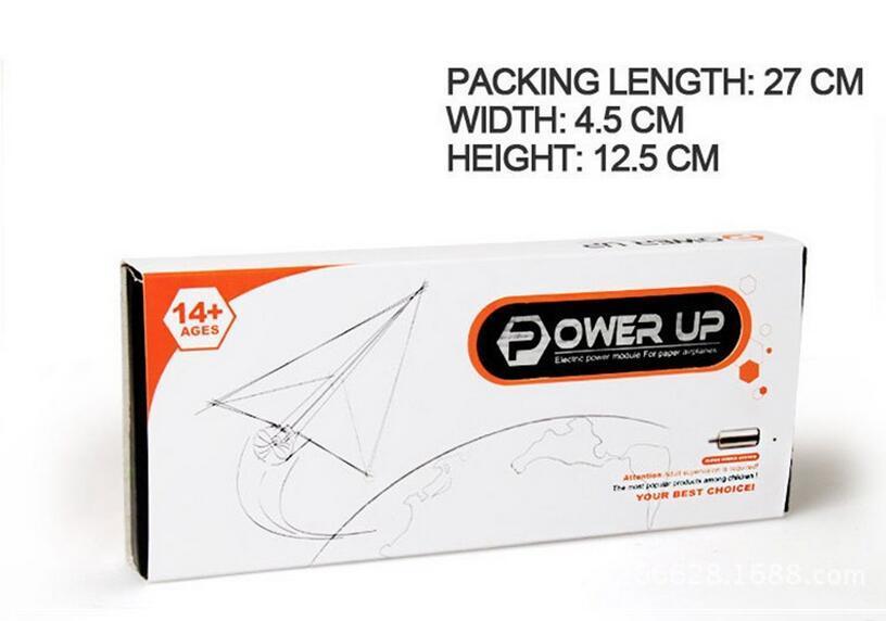 Power Up Electric Paper Plane Airplane kit de conversión Juguetes educativos de moda Gran regalo Envío gratis