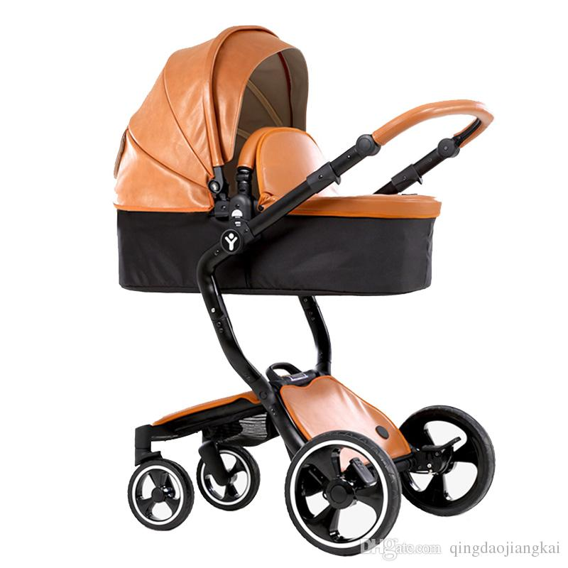 Best European Luxury Baby Stroller 3 In 1 High View Prams Folding ...