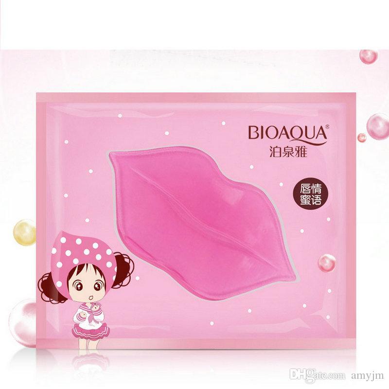DHL Proteína de Colágeno Nutritivo Lip Mask Marca Lábios Saúde Cuidados Com A Pele Esfoliante Hidratante Pele Morta Removedor Anti-Envelhecimento Lipmask
