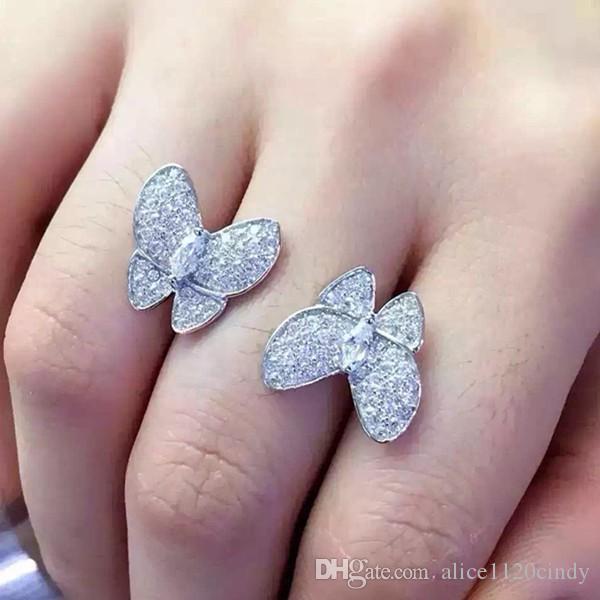 Dernier argent Sterling Sterling 925 bijoux, bague papillon Fashion Design Femmes Silver bijoux de haute qualité pour le meilleur cadeau