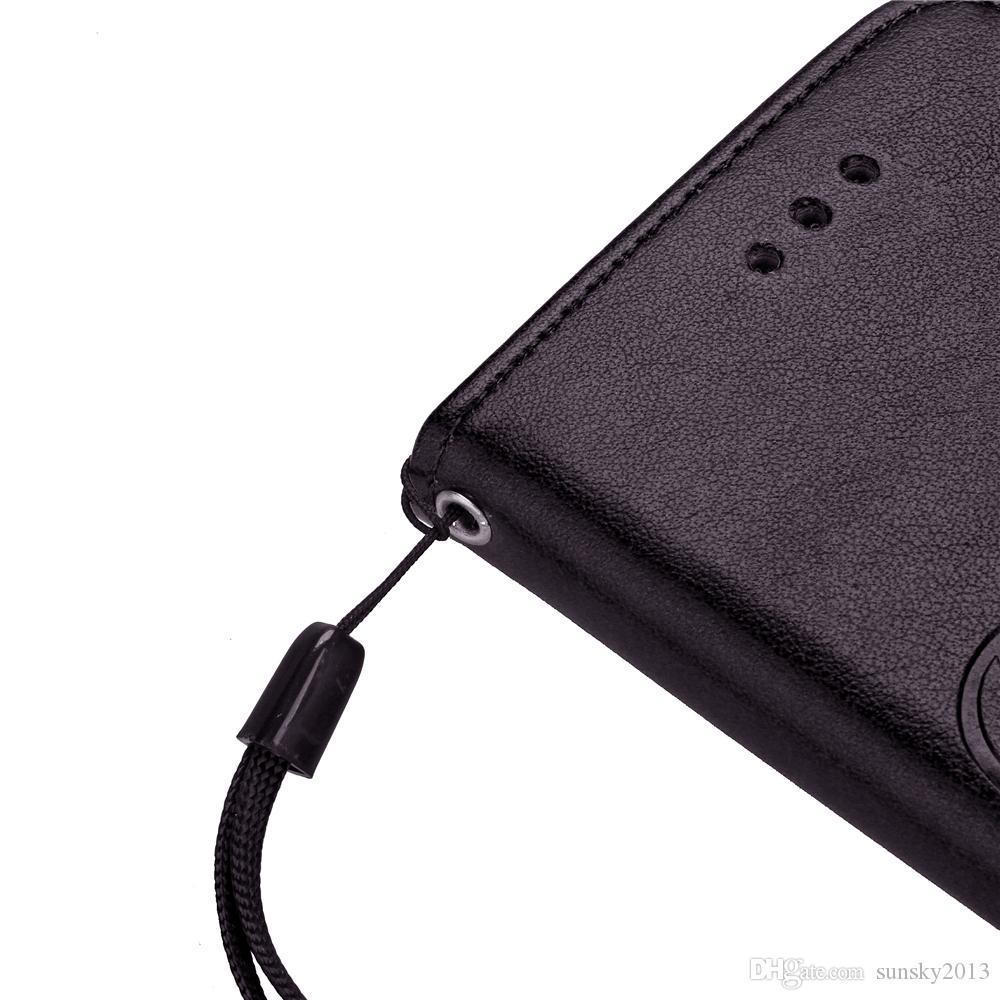 Billetera Diamond Bling Case para iPhone 6 7 Plus 5C / 5S / 5SE Touch 5/6 PU Leather + TPU Soporte de teléfono Funda con ranura para tarjeta Cubierta a prueba de golpes