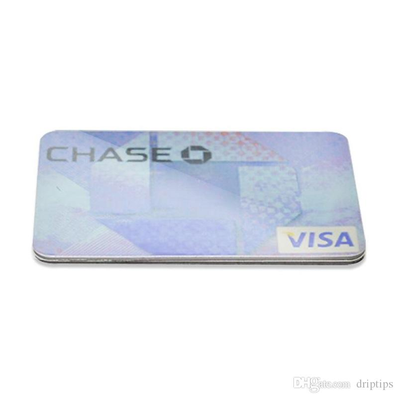 Credit Card Smoking Pipe for Herbs Tobacco click n vape bracelet Smoking Accessories we also has card herb grinder in stock