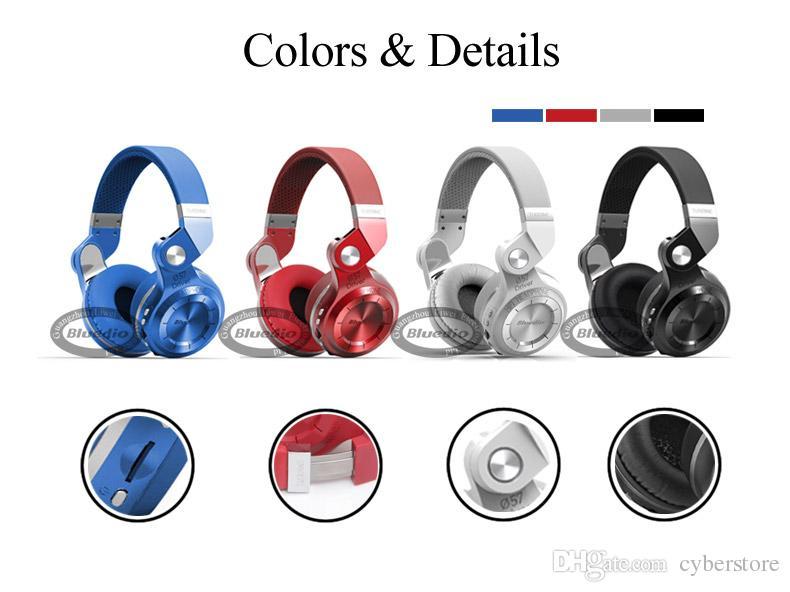 새로운 Bluedio T2 블루투스 스테레오 헤드폰 무선 블루투스 4.1 헤드셋 Hurrican 시리즈에 귀 헤드폰 헤드셋 이어폰