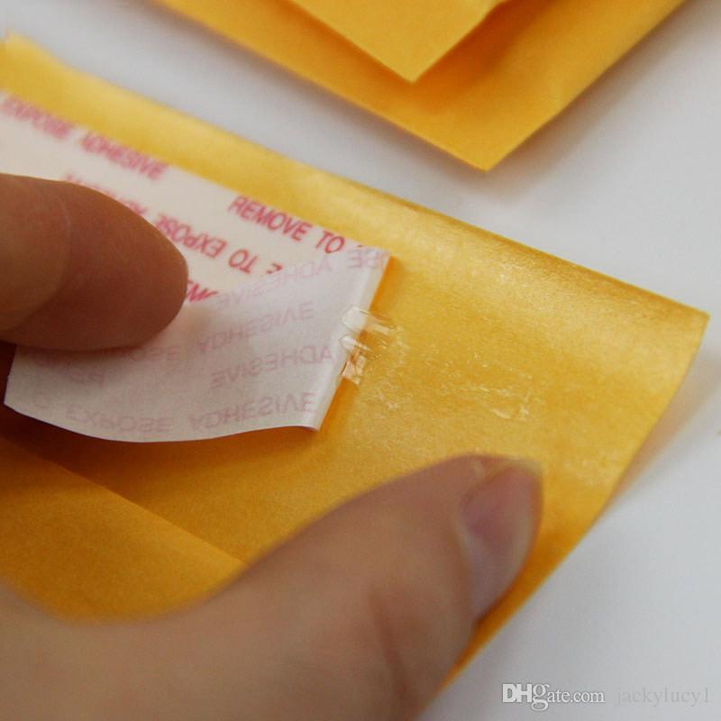 100 stücke Viele Größen Gelb Kraft Blase Mailing Umschlag Taschen Blase Versandtaschen Gepolsterte Umschläge Verpackung Versand Taschen