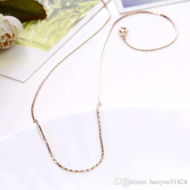 fashion NECKLACE CHAIN Luxury mens womens Jewelry 18k gold plated chain necklace for men women chains Necklaces gifts Length: 46CM+5cm Wei