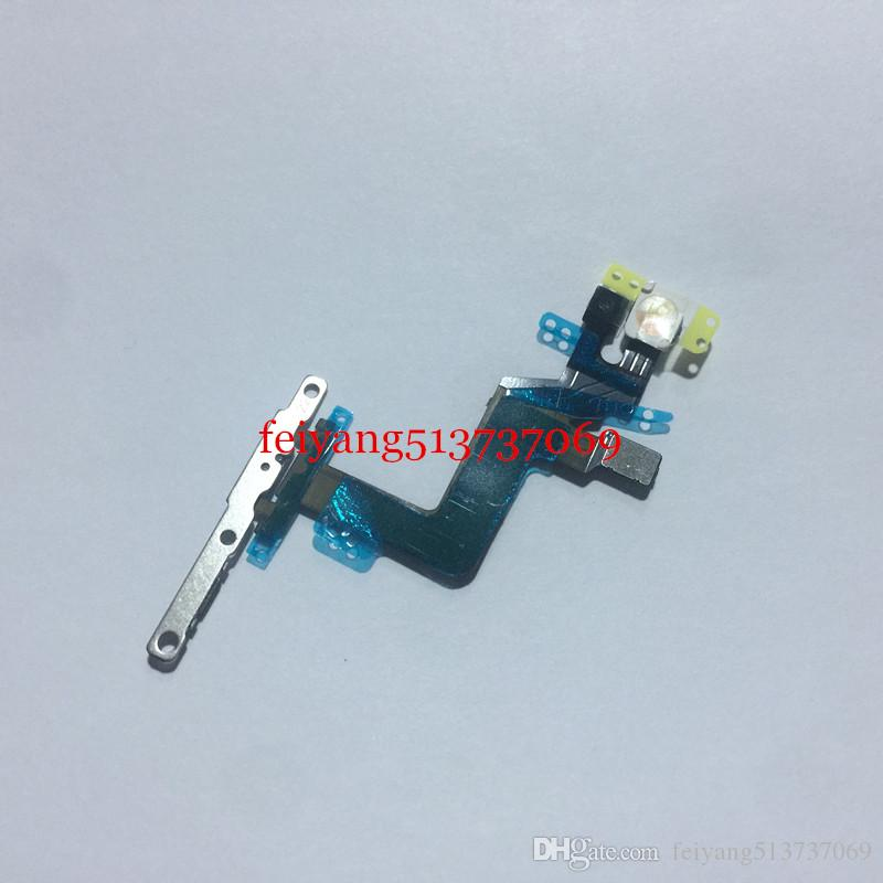 100% working Power Button On/Off Button Flex Cable With Metal Plate For iPhone 6S Plus 5.5 inch