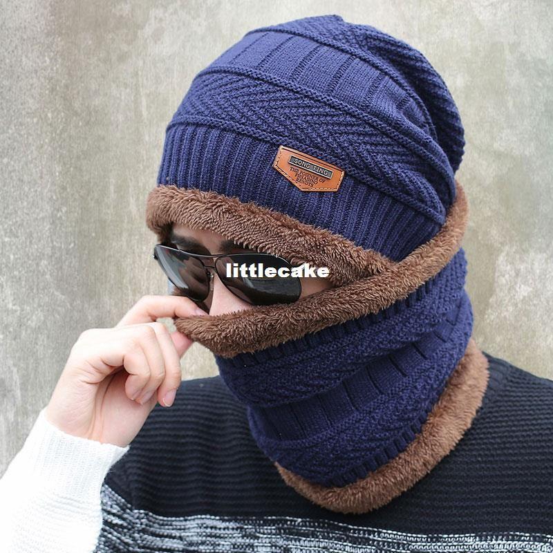 2017 New Knitted Winter Hat Scarf Beanies Knit Men S Winter Hats Caps  Skullies Bonnet For Men Women Beanie Casual Neck Warmer Crochet Beanie  Pattern Beard ... 9ddbf0602af