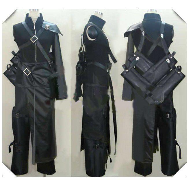 Kılıç torba broş ile Final Fantasy VII Bulut Cosplay Kostüm