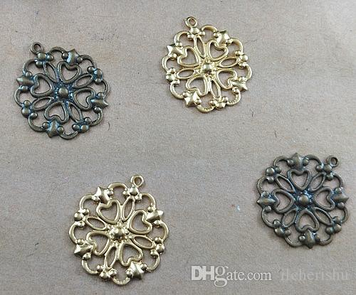 07552 16*18mm Mix antique bronze/silver/rose gold/gun black filigree leaves charms for jewelry making, vintage metal necklace cross pendants