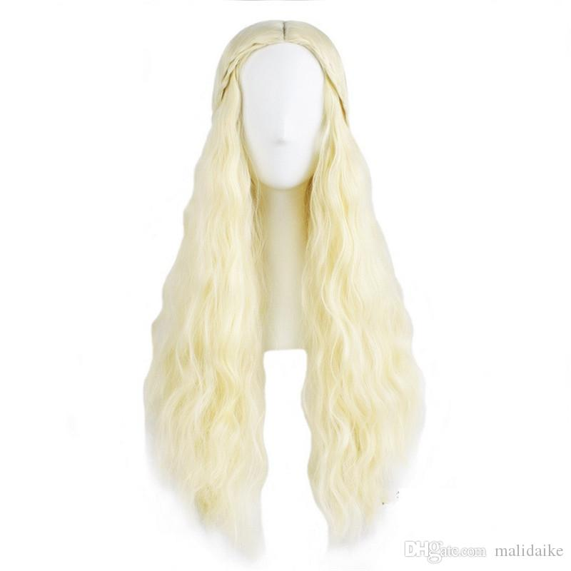 Malidaike Movie Figure Game of Thrones Cosplay Wig Wavy Hair Frozen Princess Cosplay Wigs