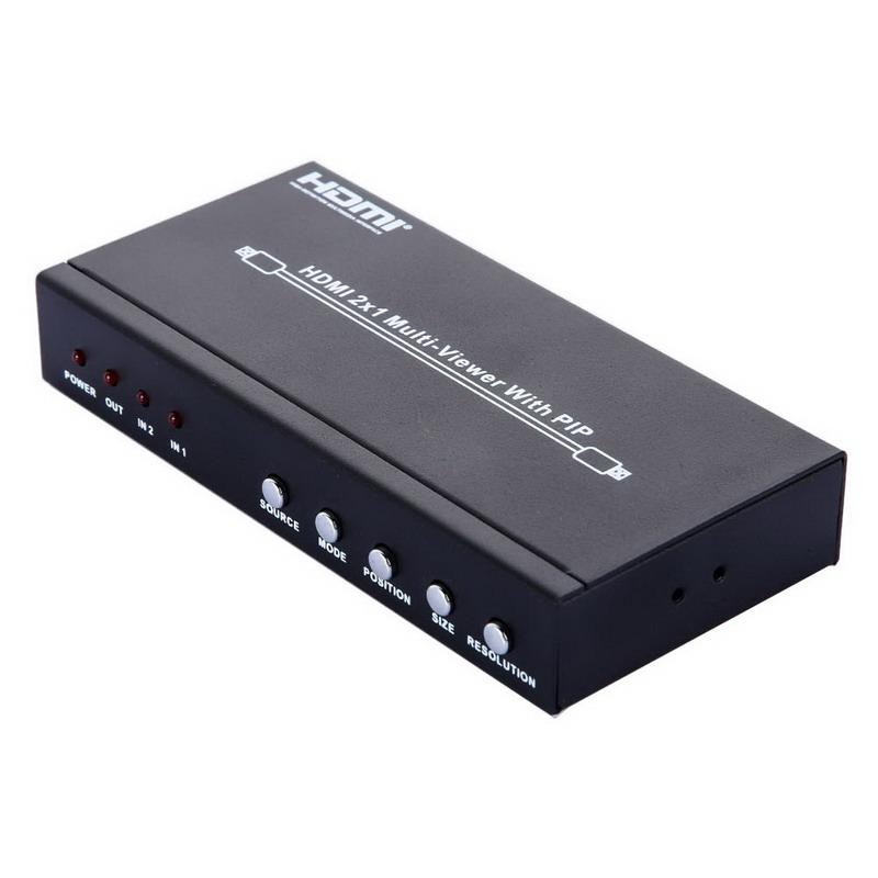 Freeshipping New Arrival HDMI 2X1 Multi Viewer Splitter With PIP 1080P  Picture A/V Division HDTV PC