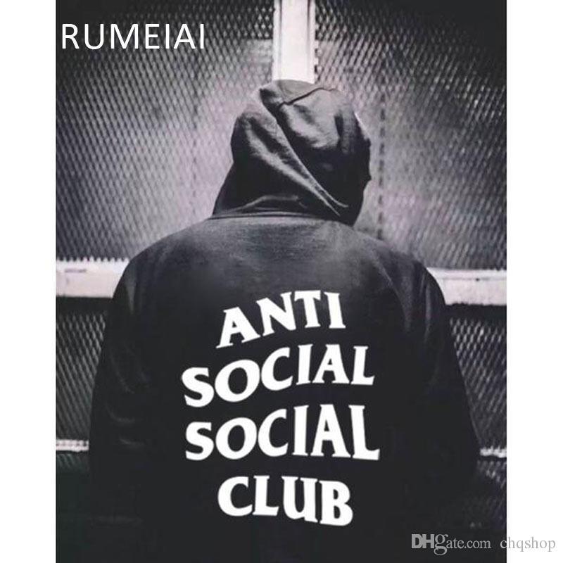 aedd62fc7e6d Acquista YEEZUS ANTI SOCIAL CLUB ASSC Hoodie Punk Hoodie Uomo In Kanye Mens  Felpe Con Cappuccio E Felpe Hip Hop Xxl A  58.88 Dal Chqshop