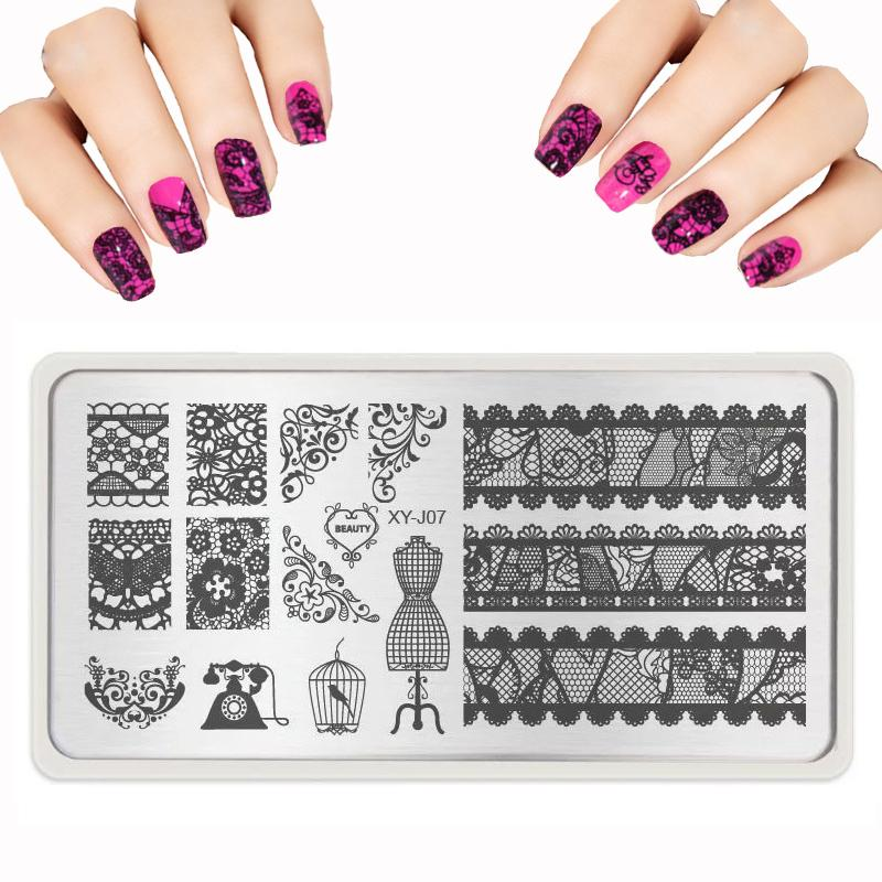 Wholesale Nail Design New Nail Stamping Plates Lace Butterfly ...