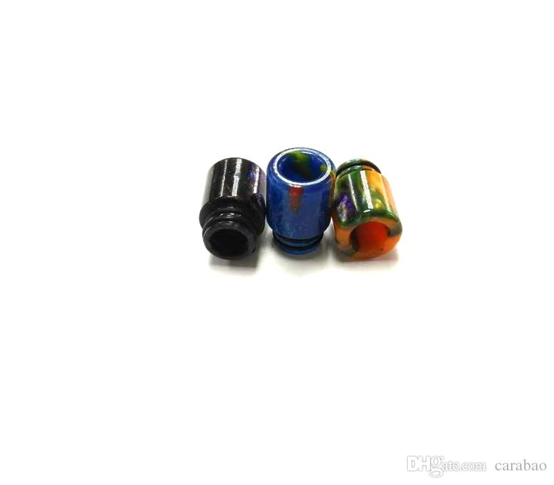 Vaporizer Epoxy Resin Drip Tip 510 Epoxy Drip Tip Mouthpiece for E Cigs Electronic Cigarette RDA Atomizers Resin Material Free Ship