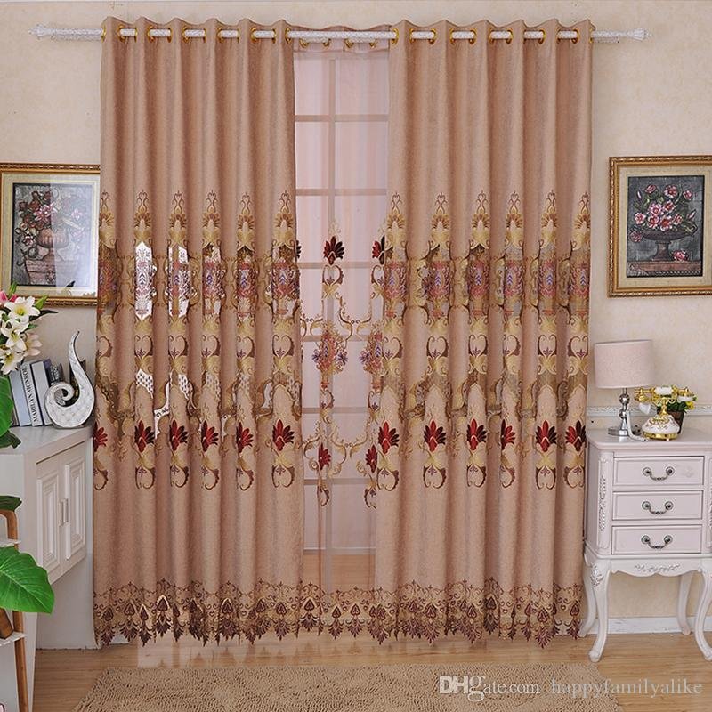 2017 Chenille Valance Curtains Beige Color Bedroom Curtain ...