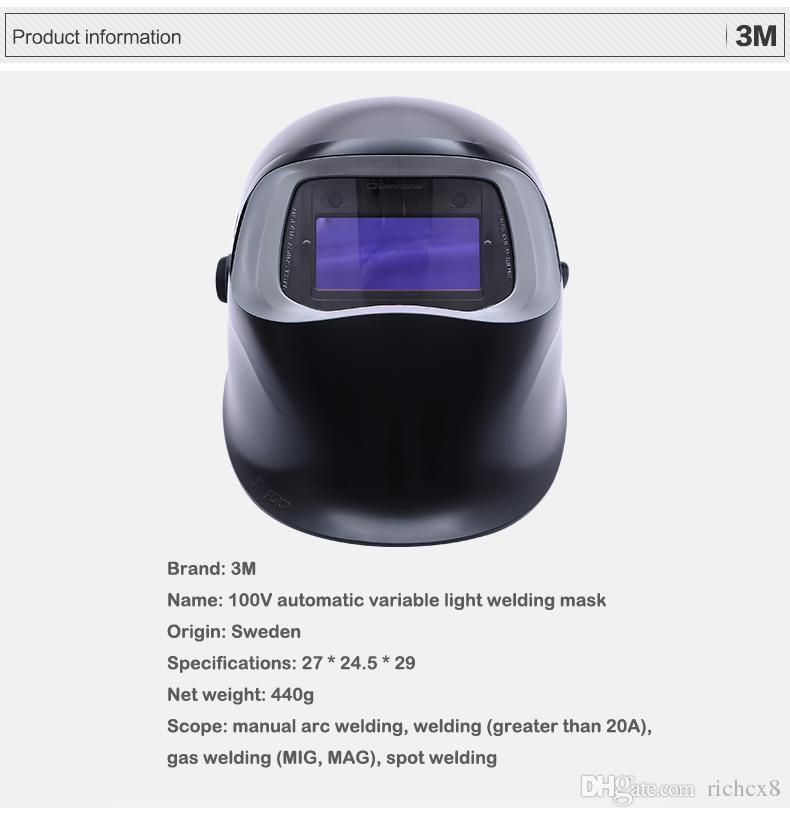 3M SpeedglasTM 100V automatique masque de protection de la lumière de soudage à l'arc