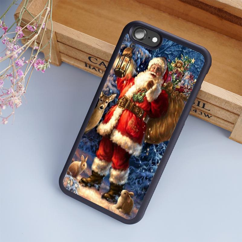 cartoon merry christmas minion design cellphone cases for iphone 6 6s plus 7 7 plus 5 5s 5c se 4s back cover clear cell phone cases protective cell phone - Merry Christmas Minion