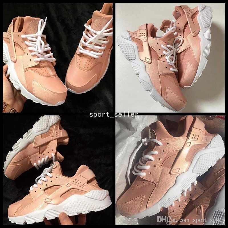 3ab187404ce 2017 Customised Air Huarache Nude Pink Running Shoes For Women Kylie Boon  Light Pink High Quality Huaraches Trainers Huraches Shoe 36 40 Womens  Running ...